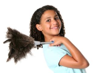 Teaching kids simple household chores