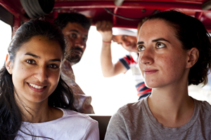 Ameesha Joshi and Anna Sarkissian