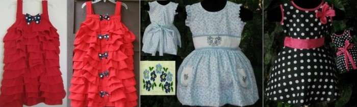Children's clothing designs from Little Women