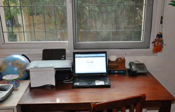 A peek into Arthi's home office