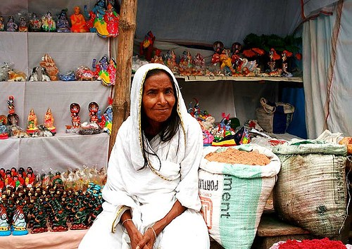 A widow in India