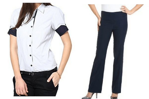 3ced7a1dc3b Get it here  Dazzio formal cotton shirt and Romano comfort cotton trousers.  As working women in India ...