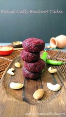 Baked Nutty Beetroot Tikkis by Drashti Dholakia