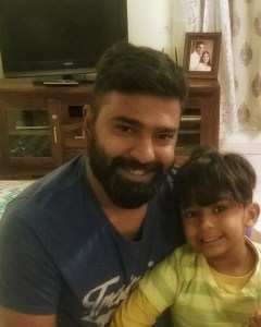 Rohit with Rudra