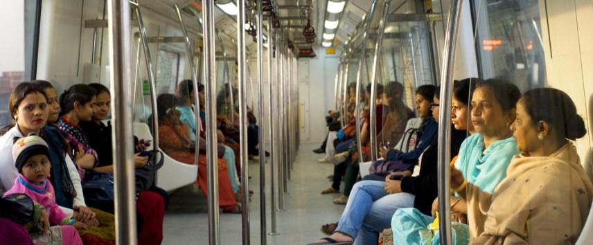 female commuters in delhi