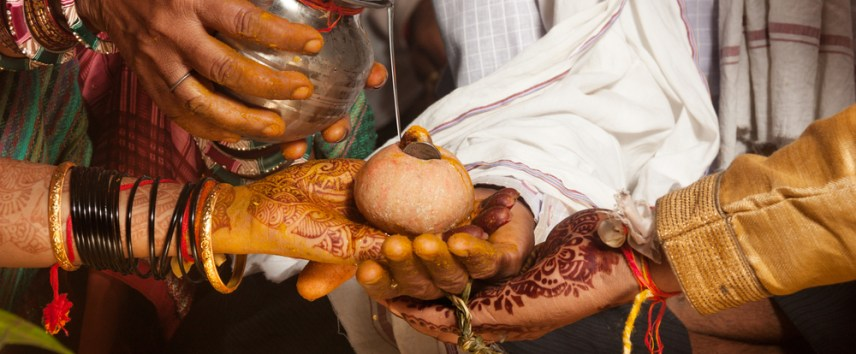 kanyadaan ritual during an Indian wedding