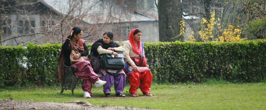 Indian women in park