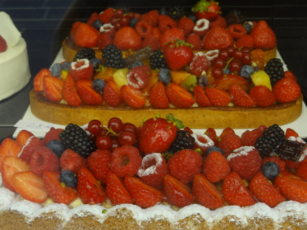Berry tarts at a pastry store in Nice, France