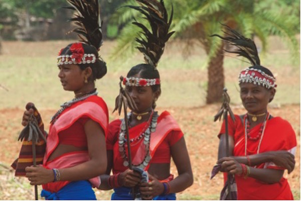 Bison Horn Maria women at a community cel