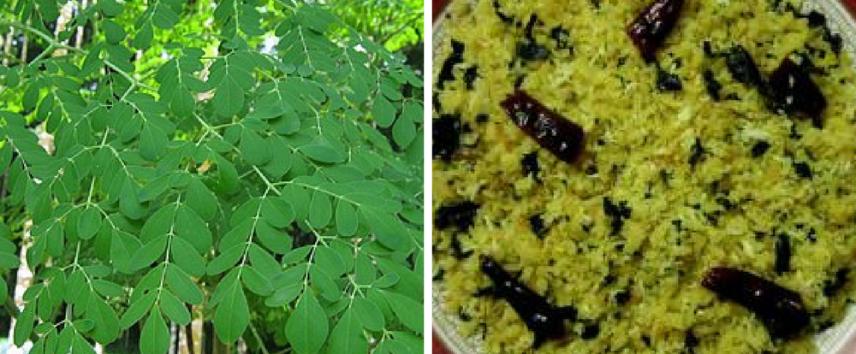 drumstick leaves poha