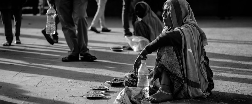 destitute woman