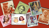 Indian women on postal stamps