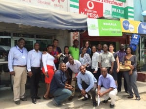 Photo of training group outside an agent's store