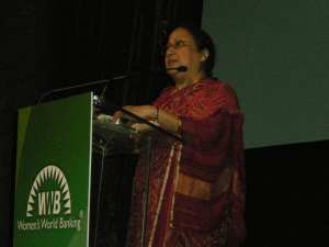Humaira Islam receives Women's World Banking's Excellence in Leadership Award, 2013