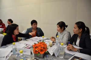 Women in Leadership participants discussing their vision
