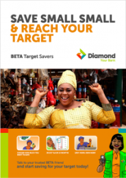 A sample poster of the BETA Target Savers product