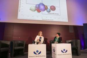Colleen Learch and Claire Sibthorpe (Making Finance Work for Women Summit, Germany, 11-12 November 2015)