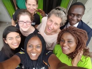 Liz Kellison with Women's World Banking and Diamond Bank team