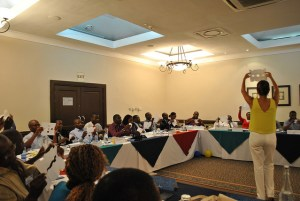 An interactive activity during the Management Development Program at NBS Bank