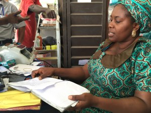 A Diamond Bank (Nigeria) client does the books for her business