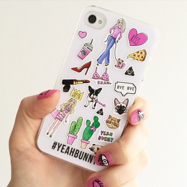 Flaunt some craziness with girly stick-ons or funky emojis