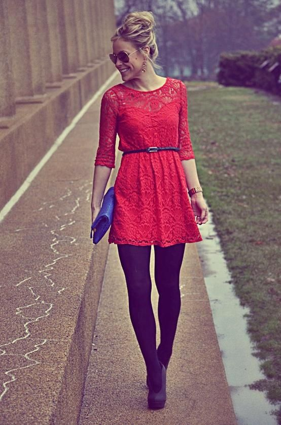 red and navy