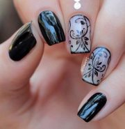 sassy black nail art design