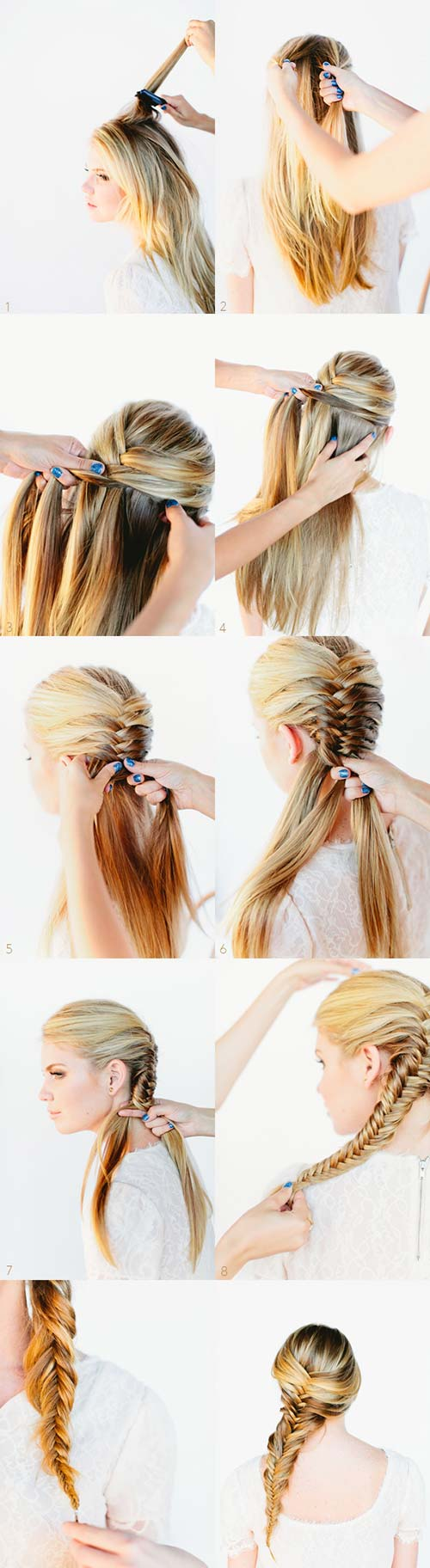 11 Unique Fishtail Braid Hairstyles With Tutorials And Ideas