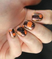 pretty thanksgiving nail art