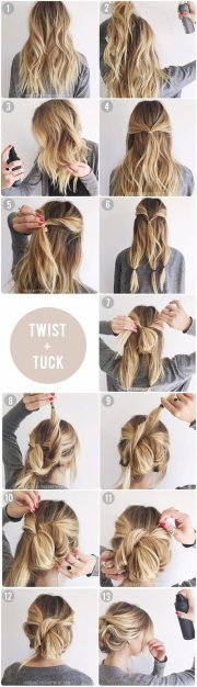 messy updo tutorials