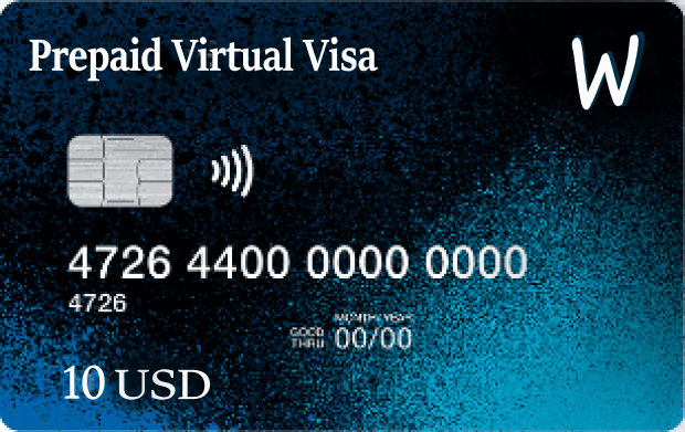 Mastercard and Visa virtual prepaid cards start from $ 10 to $ 500