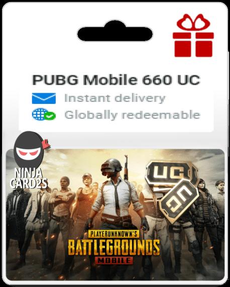 Buy PUBG Mobile 660 UC $10.99