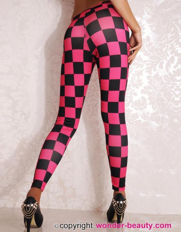 Racing Checkered Flag Leggings Beauty Lingerie