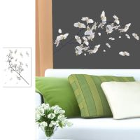 Branch of white Orchid wall sticker