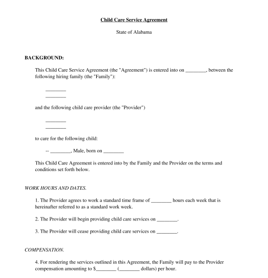 Printable Babysitting Contracts That are Striking