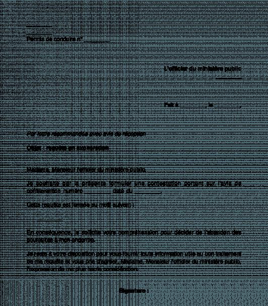 Modèle De Lettre Contestation Dune Amende Courrier Type Word