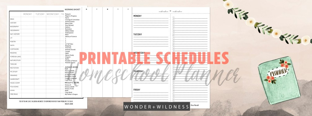 build your own homeschool planner wonder wildness. Black Bedroom Furniture Sets. Home Design Ideas