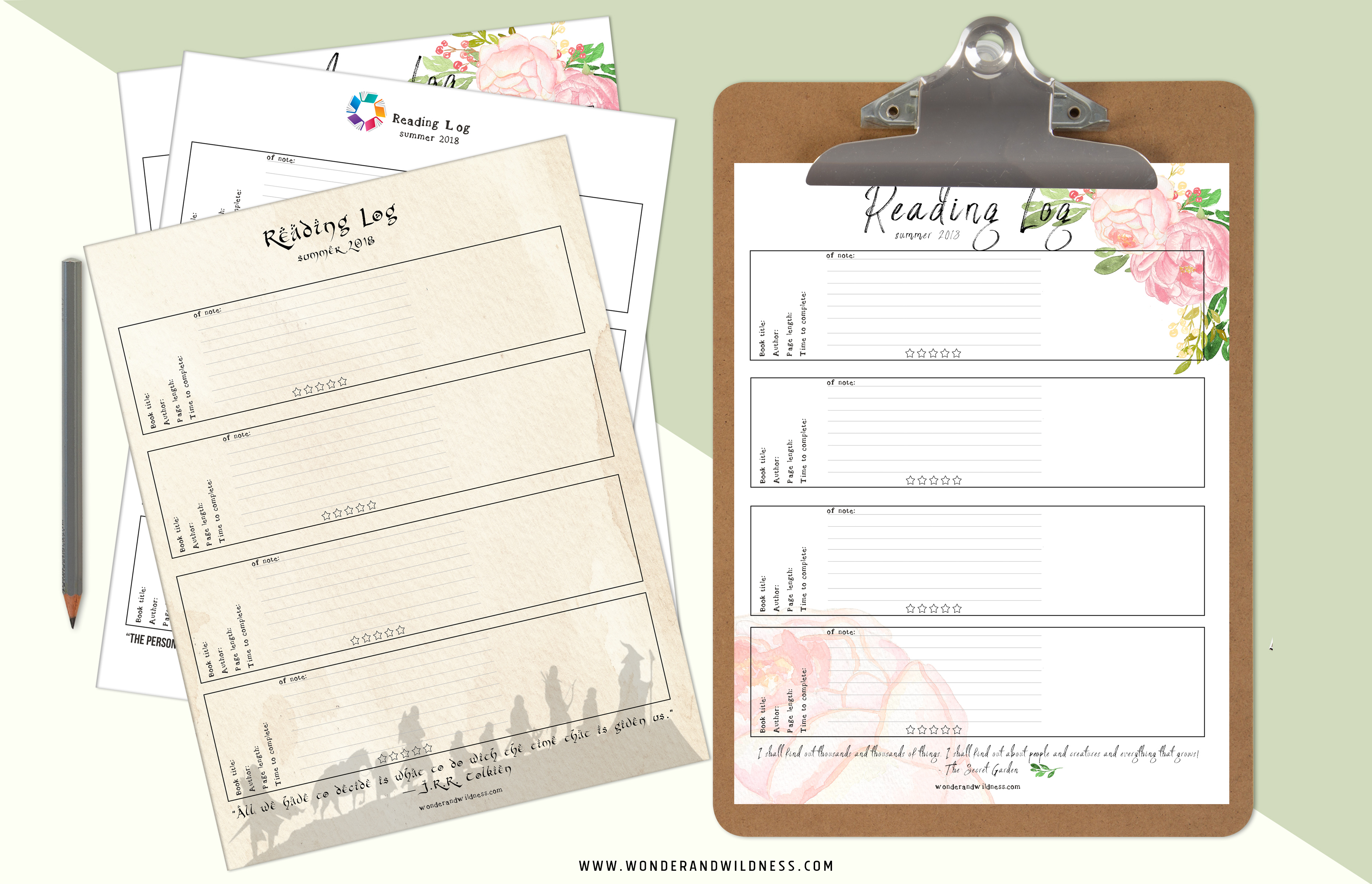 picture about Free Printable Reading Log known as No cost Printable Summer time Reading through Log Surprise + WILDNESS