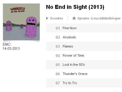 WONDERFLU - No end in sight sur deezer