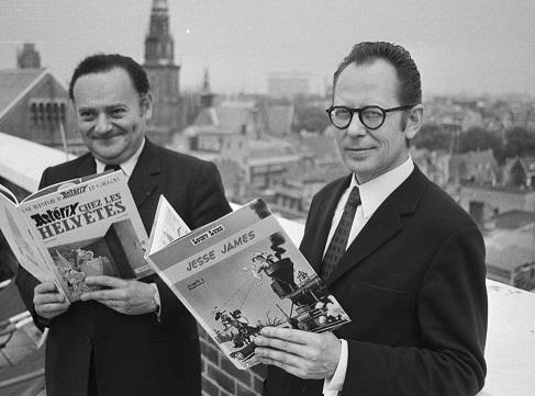 René Goscinny et Morris