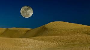 Moon and desert