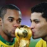 Brazil with cup 2010