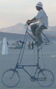 funny high bicycle