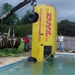 DHL in Swimming pool