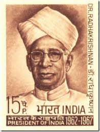 Stamp in honor of Radhakrishnan