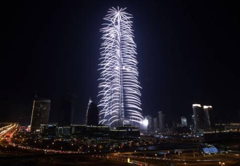 burj khalifa inauguration fireworks
