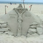 sand sculpture - Jesus