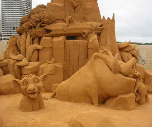 sand sculpture - Lion King