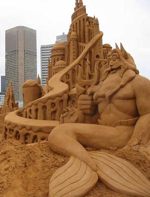 sand sculpture - Little Mermaid