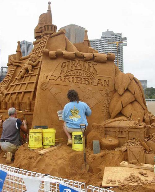 sand sculpture - Pirates of Caribbean